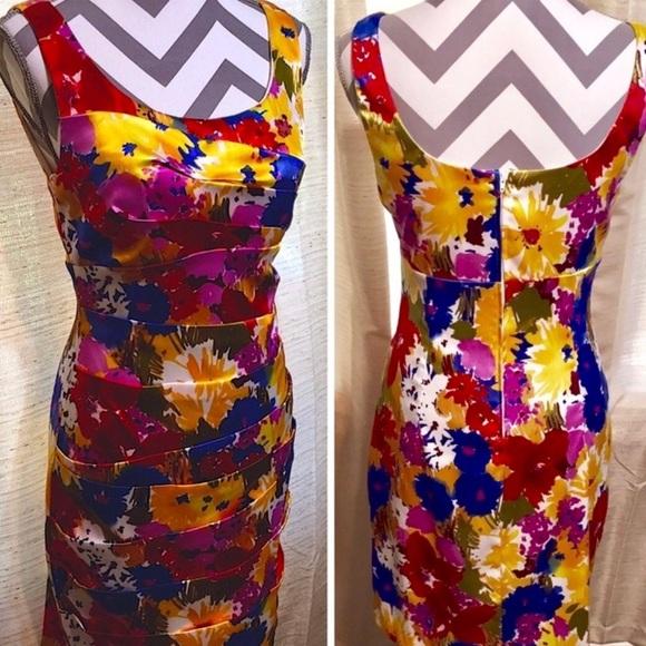 3914159f5d86b Bisou Bisou Dresses & Skirts - Bisou Bisou Colorful Floral Dress 8
